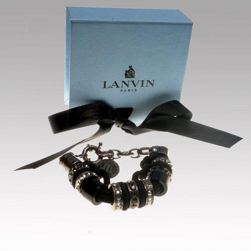 Bracelet noir en strass de Swarovski – LANVIN