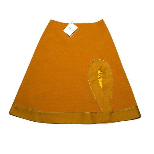 Jupe trapèze jaune moutarde – DIOR