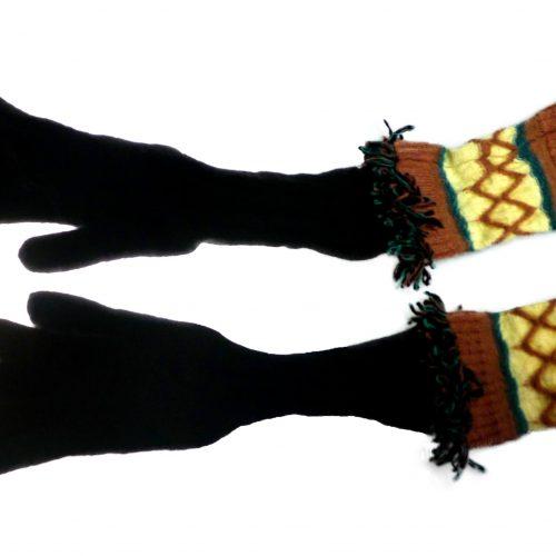 Gants noirs longs en laine – MISSONI