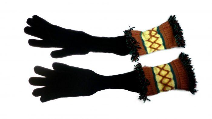 accessories femme gants long en laine marque Missoni