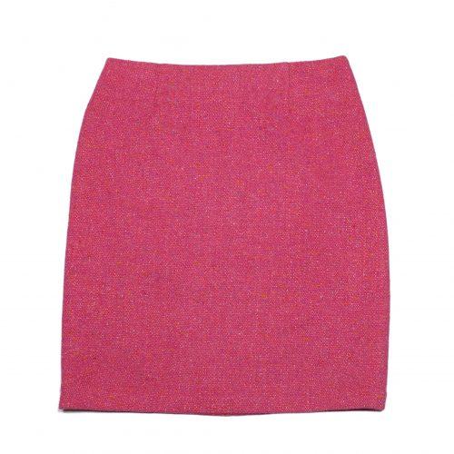 Jupe droite en tweed rose – ZAPA