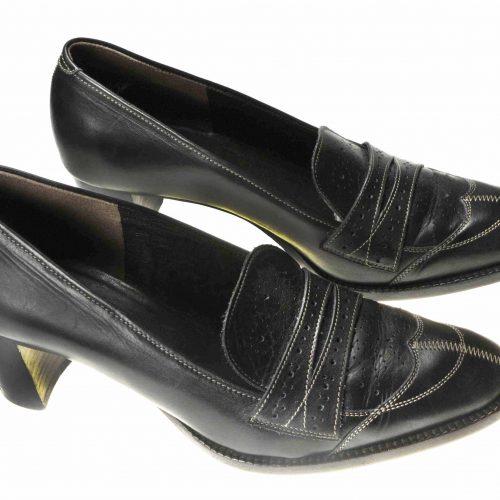 Mocassins en cuir noir – HESCHUNG