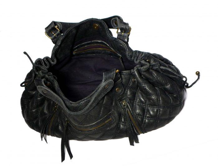 sac rebelle noir en cuir matelassé Gerard darel pas cher