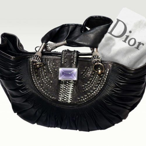 Sac Sharon Stone en cuir noir – Dior