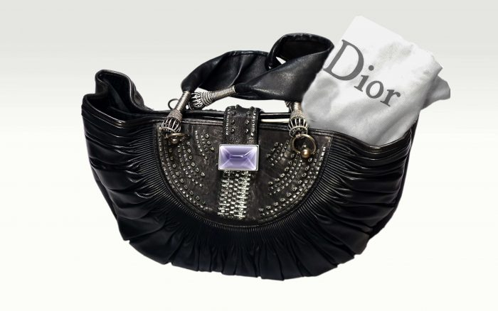 sac Christian Dior pas cher Sharon stone cuir noir