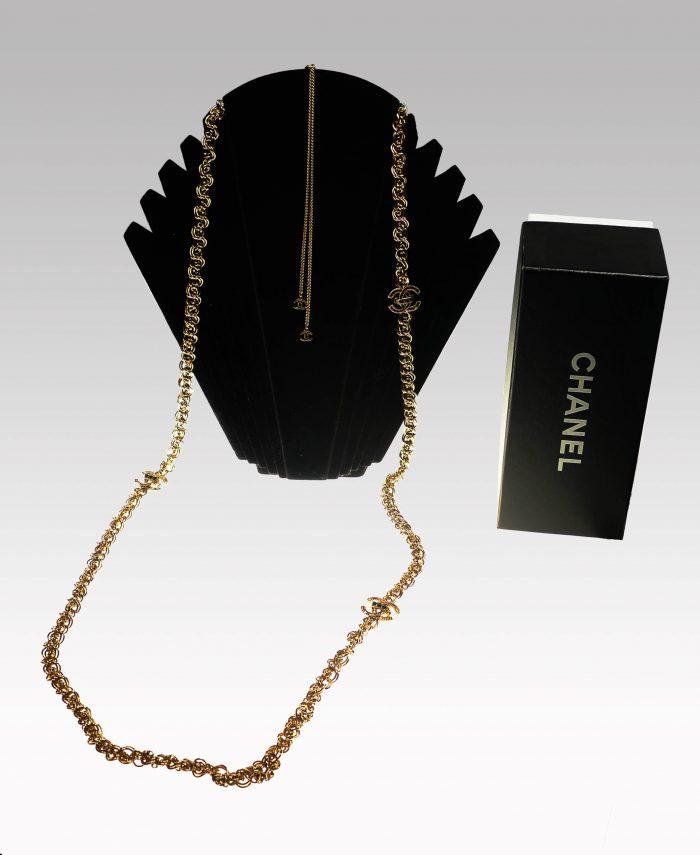 Collier en or Bijoux marque chanel d'occasion