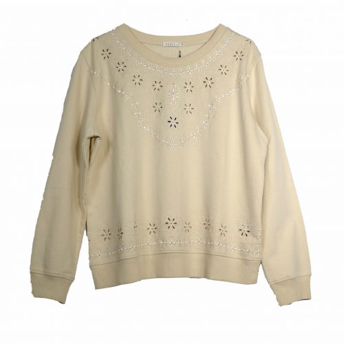 Sweat-shirt beige brodé – ARMAND VENTILO