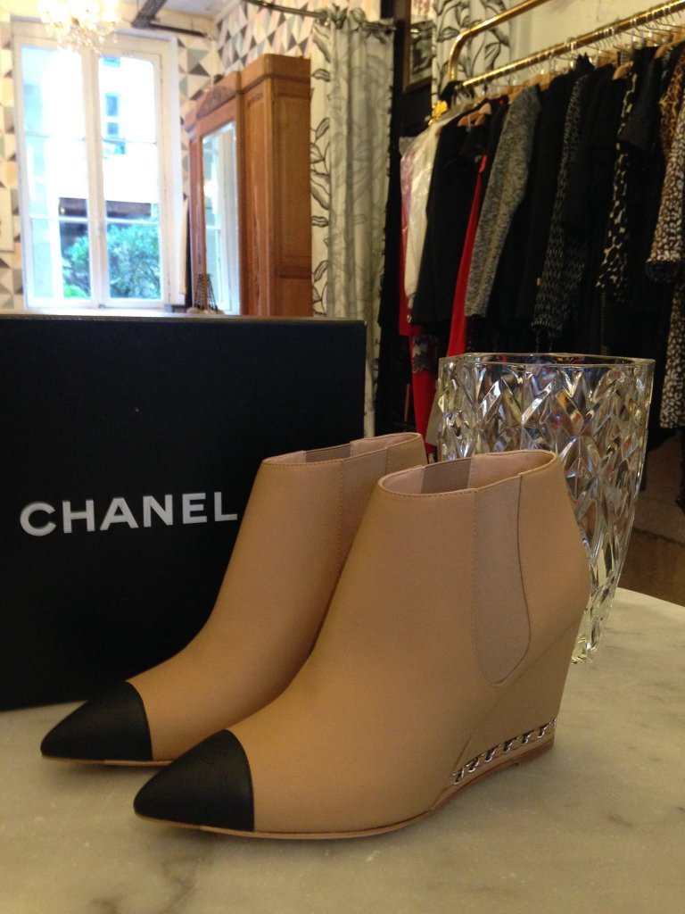 Chanel chaussures pas cher occasion vintage 75