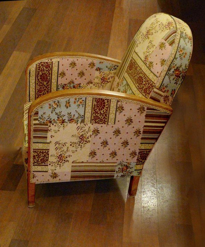 fauteuil art déco patchwork années 30 occasion paris