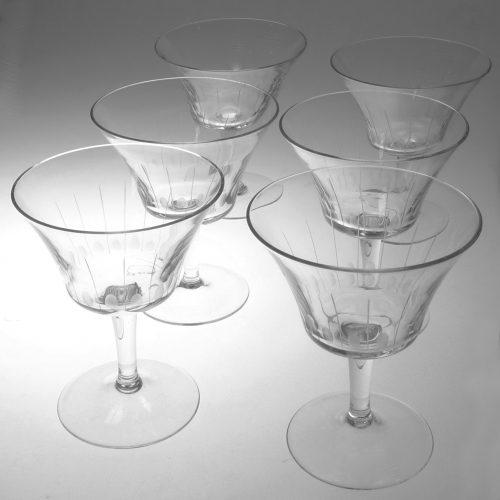 Verres à vin en cristal de bohème