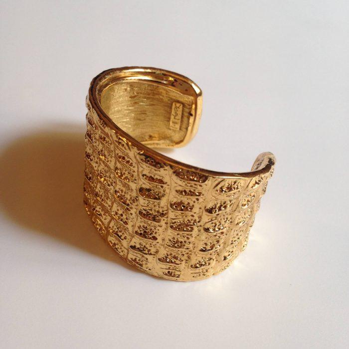bracelet or yves saint laurent manchette piece de collection