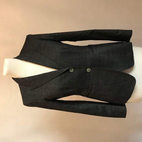 Veste blazer en laine gris chiné – MAXMARA