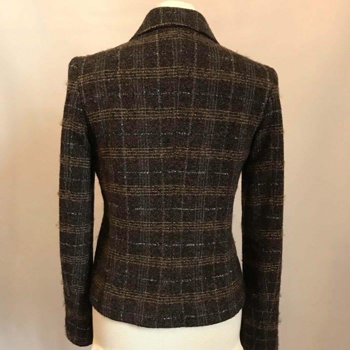veste en laine marron dolce et gabbana femme occasion pas cher