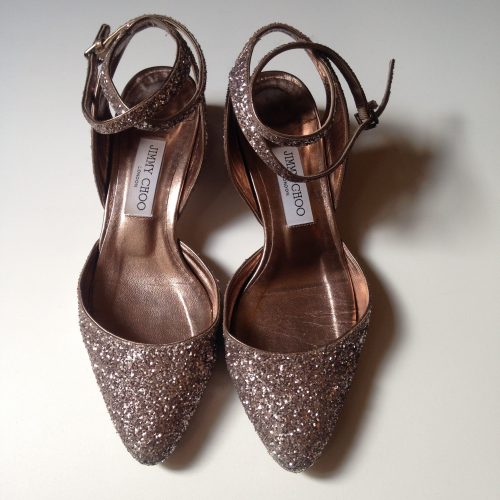 Sandales en cuir pailleté – JIMMY CHOO