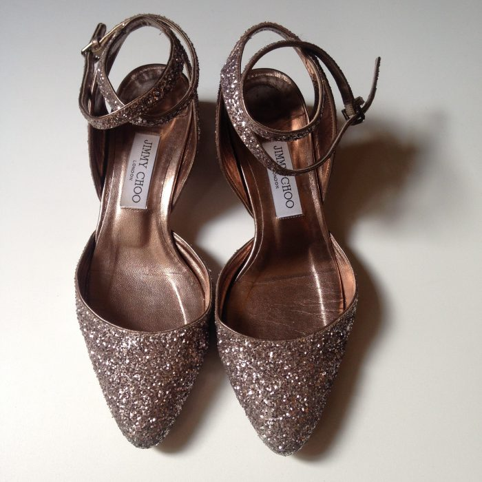 Chaussures Jimmy choo occasion 39 cuir paillette