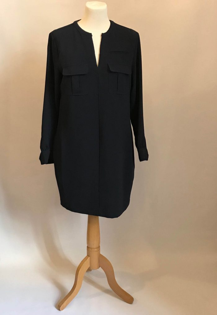Robe coupe droite manches longues whistles occasion