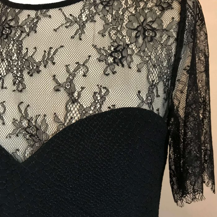 Robe noire buste dentelle marque the kooples pas cher