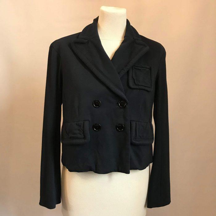 veste Sonia Rykiel occasion bleu nuit noir
