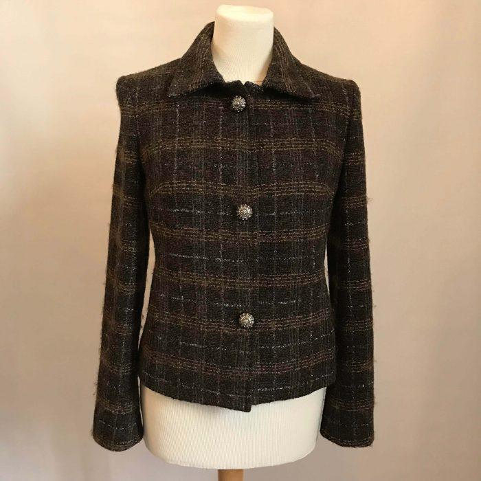 Veste en laine marron tartan D&G neuf occasion