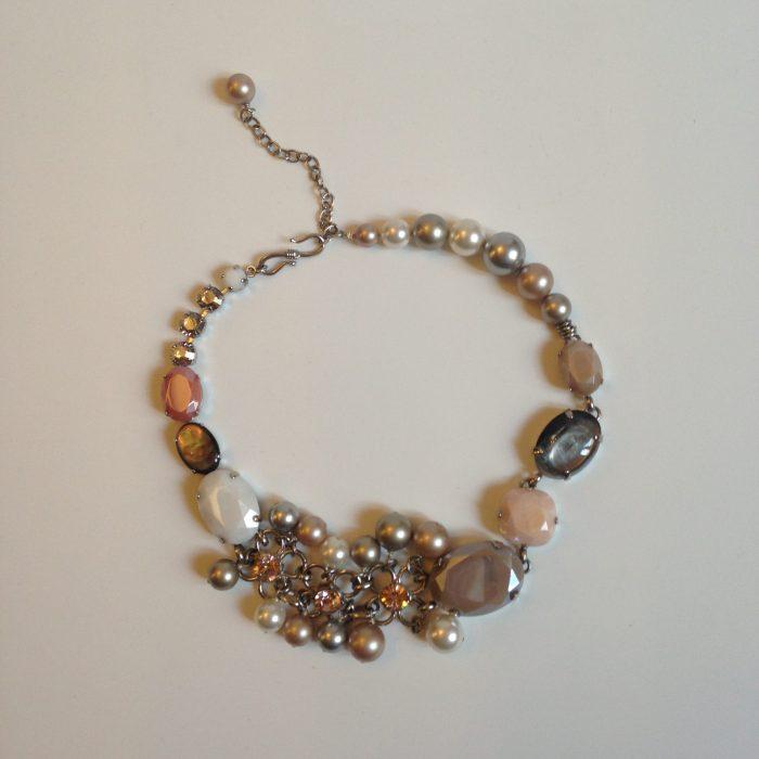 collier ras de cou philippe ferrandis occasion perles Swarovski