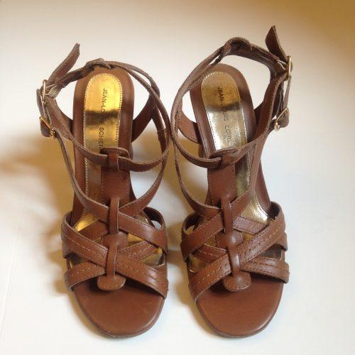 Sandales à talons en cuir – JEAN-LOUIS SCHERRER