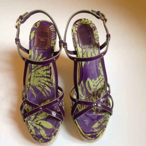 Sandales espadrilles compensées – CHRISTIAN DIOR