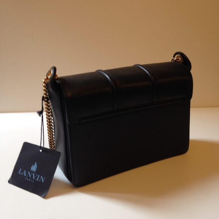 jiji Lanvin sac porté épaule cuir noir occasion