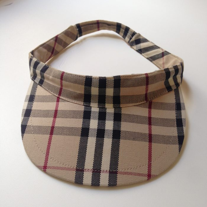 visiere tartan BURBERRY femme occasion