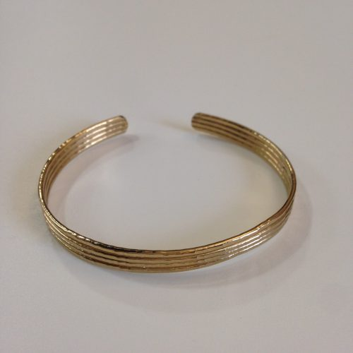 Bracelet ouvert plaqué or – ATELIER HORIZON