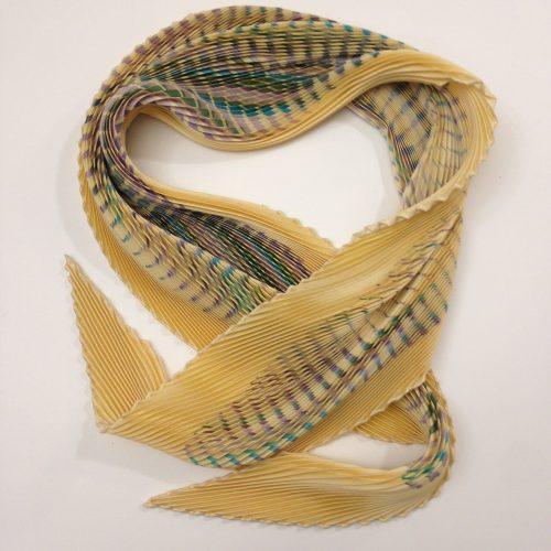 Foulard plissé en soie – HERMES