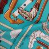 foulard en soie hermes modele les cannes occasion