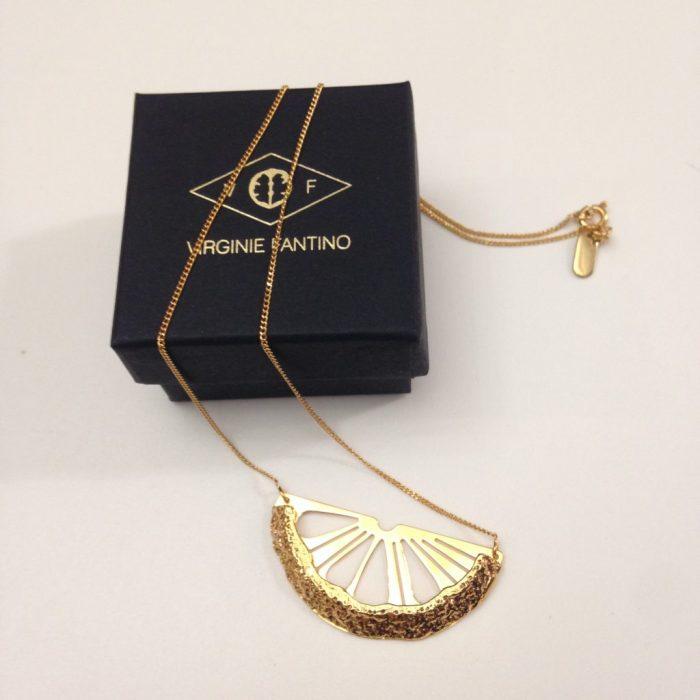 collier citrus metal Virginie Fantino creatrice bijoux