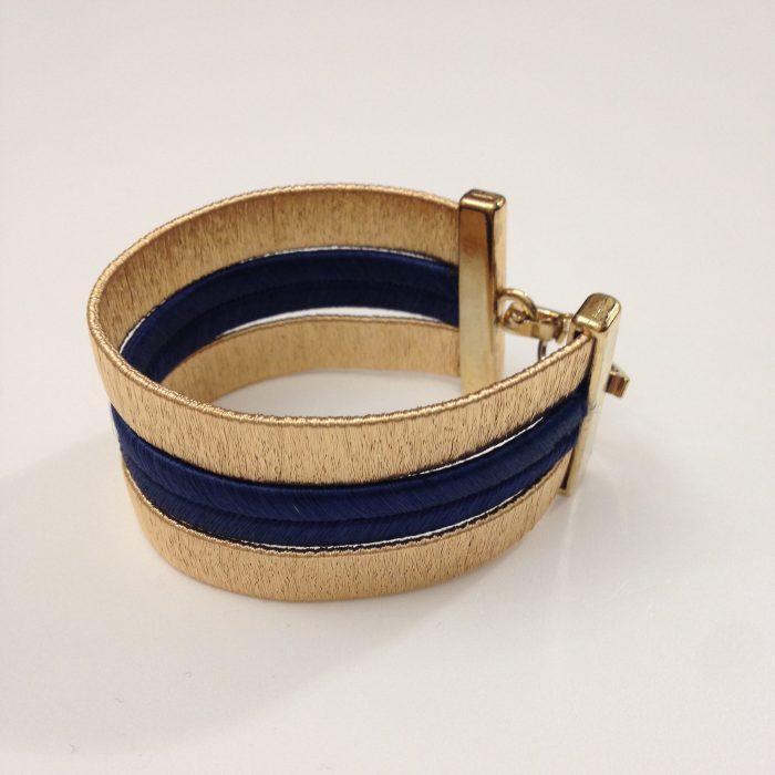 Bracelet Jaipur Noade or fin et bleu