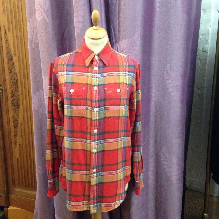 chemise à carreaux en coton épais polo Ralph Lauren occasion
