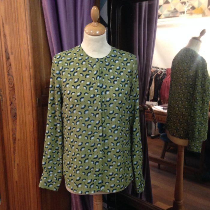 chemise imprime ginkgo femme cotelac