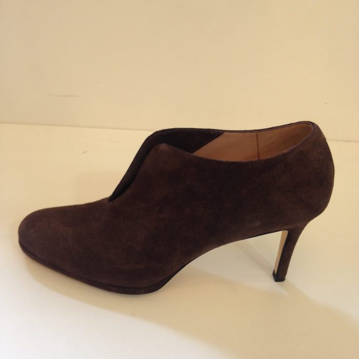 chaussures escarpins femme 39 daim marron