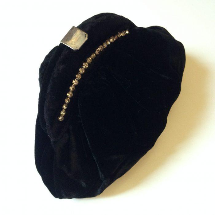 Minaudière femme sac pochette vintage de soiree velours noir