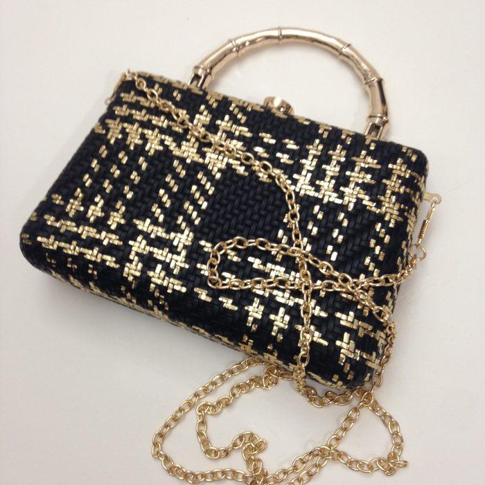 mini sac noir et or fashion