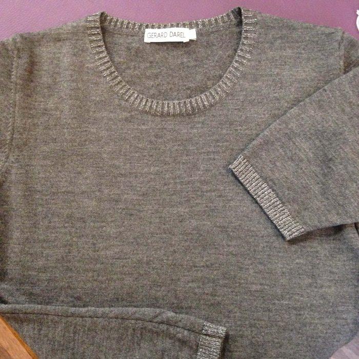 pull laine et lurex manches courtes gerard darel occasion