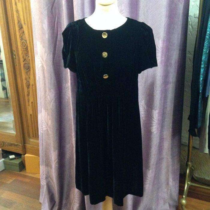 robe en panne de velours noire marc by Marc Jacobs