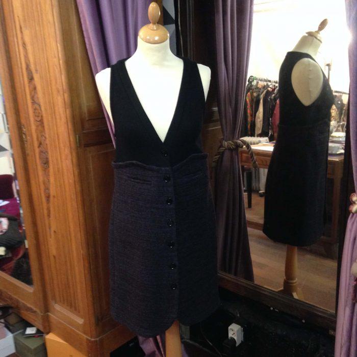 robe en laine sans manche noire femme Sonia Rykiel occasion