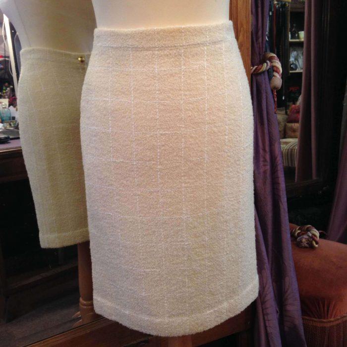 jupe droite en laine beige Sonia Rykiel occasion