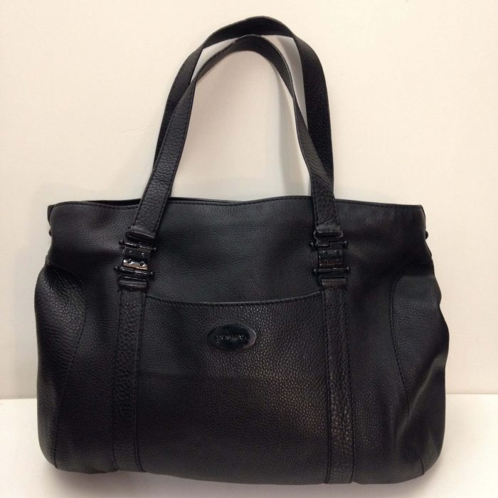 sac cabas cuir noir Rochas