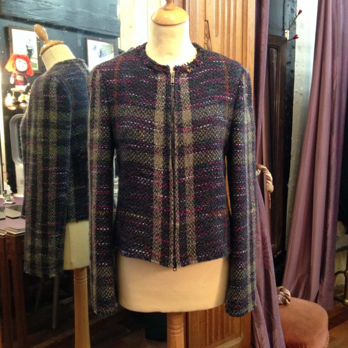veste courte en tweed Burberry femme occasion