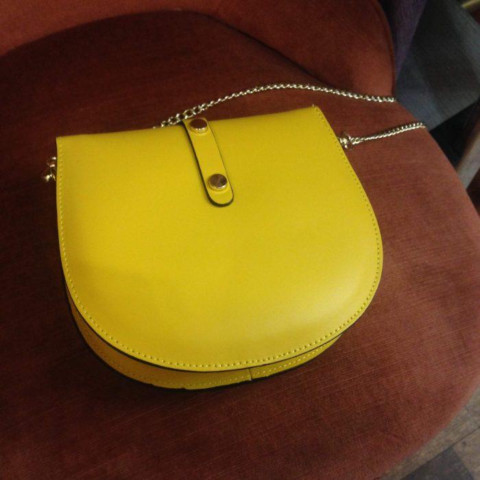 Mini sac en cuir jaune pas cher