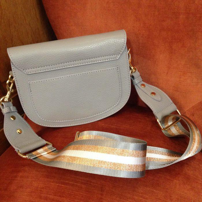 sac medium en cuir gris
